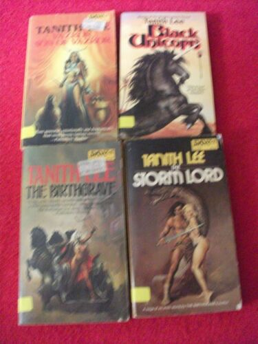 Lot of 4 Tanith Lee Fantasy paperbacks
