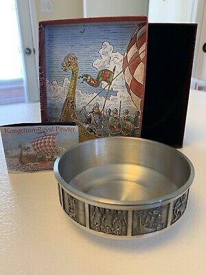 Kongetinn Royal Pewter  Viking Bowl Konge Made In Norway H.S. Hardanger Bestikk