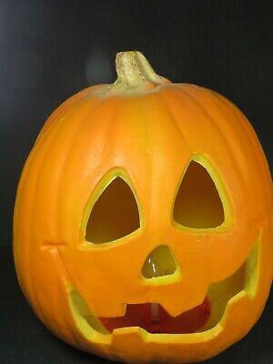 "Trendmasters 1995 Halloween Light Up Foam Blow Mold Jack-O-Lantern 9.5"" B4642"