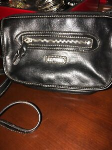 Small black over the shoulder purse