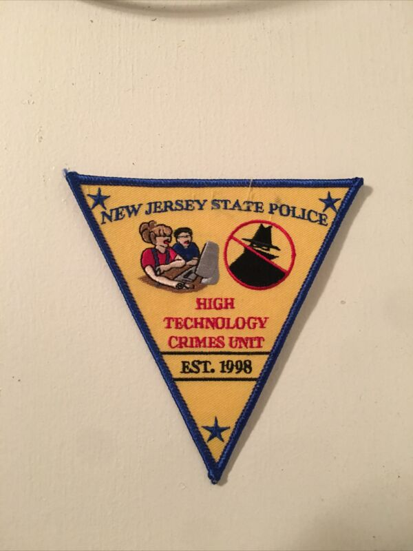 NEW JERSEY STATE POLICE Technology Crimes Unit  Shoulder Patch - NJ
