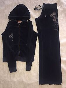 Juicy Couture Navy Blue Velour Track Suit