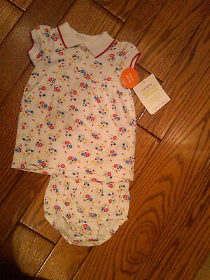 NWT $20 INFANT GIRLS FLOWERED DRESS & BLOOMERS BY CARTERS SIZE 3 MONTHS CUTE!
