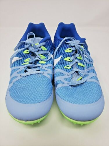 Nike Women Rival M Size 11 Racing Multi Use Running Spikes Blue New