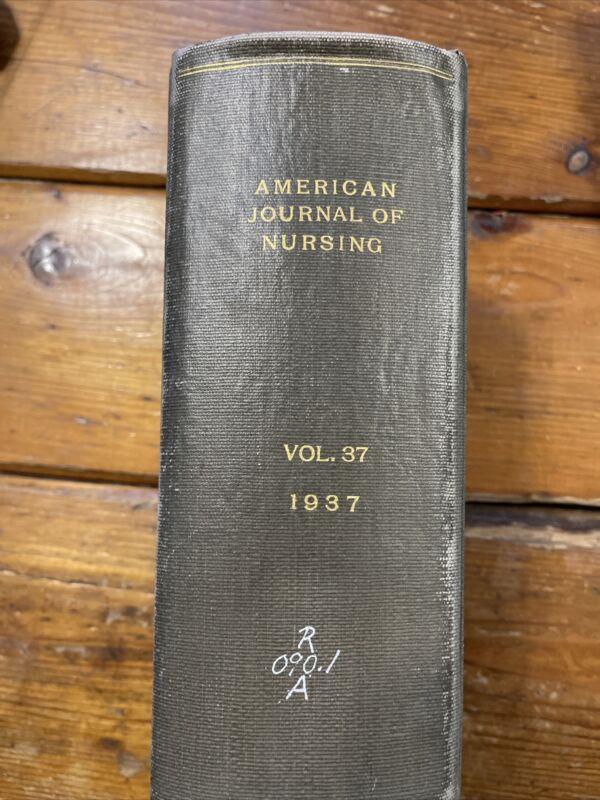 American journal of nursing Vintage hardcover book 1938