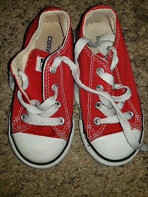 Converse All Star RED canvas sneakers athletic shoes baby toddler 8