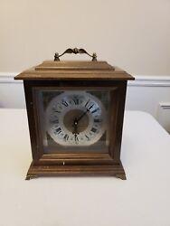 Bulova Mantle Tabletop Desk Wood Clock