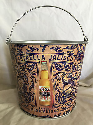 "7-1/2"" Collectible Estrella Jalisco Metal Ice Bucket Brand New Made In Mexico"