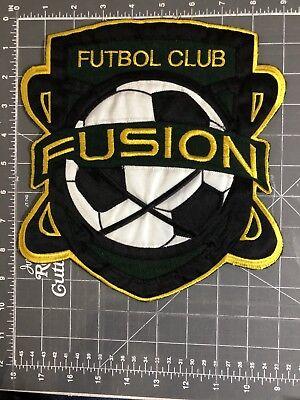 Fusion Futbol Club FC Football F.C. Jacket Patch Soccer West Jordan Utah UT FFC