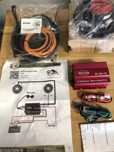 Golf Cart Mini Amp Stereo Kit