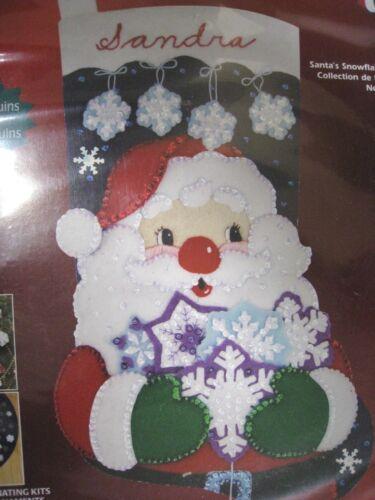Christmas Janlynn Felt Applique Craft Stocking Kit SANTA