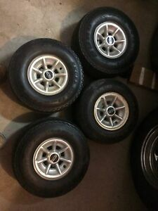4 Golf cart tires and rims