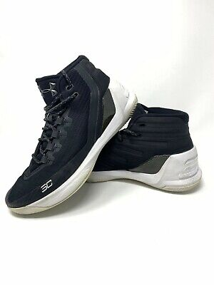 Under Armour Curry 3 Mens Size 8 Black White Basketball Shoes 1269279-006