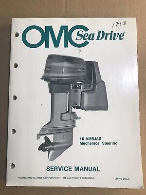 OMC Sea Drive Service Manual 1988 16AMRJAS Mechanical Steering