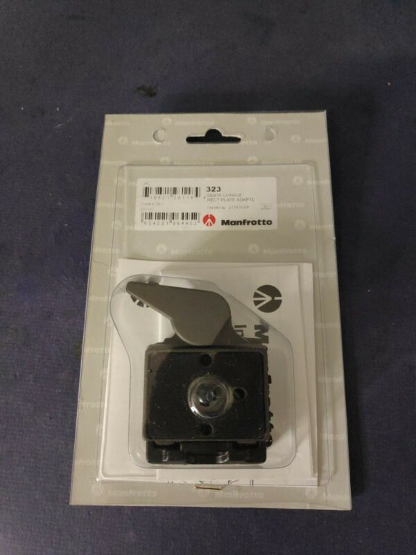 Manfrotto 323 Quick Change Rect Plate Adapter - Sealed New