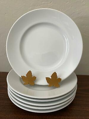 Set of 6 Williams Sonoma BRASSERIE White Luncheon Salad Plates Free Shipping