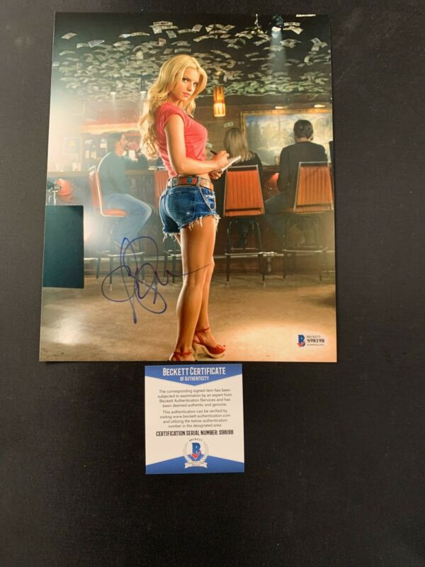 Jessica Simpson Dukes of Hazard Signed 8x10 Photo BAS COA Autograph #S98198