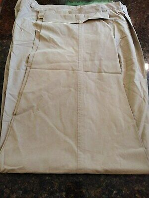 MEN'S NAUTICA CLIPPER KHAKI TAN PANTS~CUFFED~PLEATED~SIZE 42 x 34~NW/OT