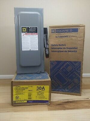 Square D Hu361 Non Fusible 30 A Amp 600v Safety Switch Disconnect Nema Type 1
