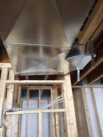 Ductwork supplied and installed