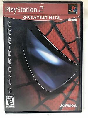 Spider-Man GREATEST HITS (Sony PlayStation 2) PS2 GAME DISC & CASE SPIDERMAN