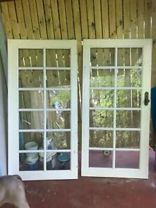 French doors white good condition