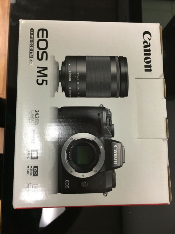 Canon EOS M5 Mirrorless Digital Camera w/ 18-150mm Lens Brand New