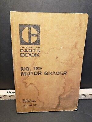Cat Caterpillar No. 12f Motor Grader Parts Book Manual Sn 89h901-up