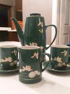 Tea set -aqua with lotus Mayfield East Newcastle Area Preview