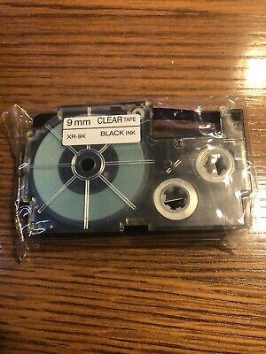 Casio Xr-9x Clear Tape Black Ink Cassette 9mm Casio Ez Label Printer