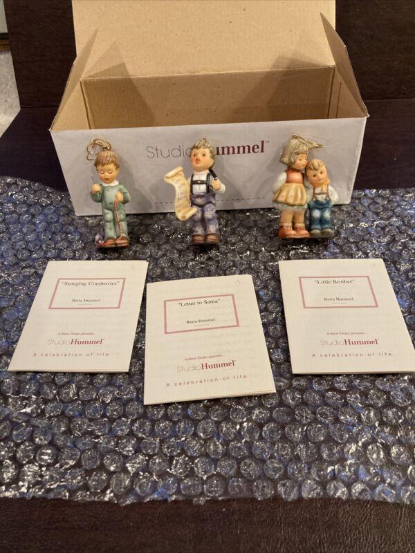 Berta Hummel Studio Hummel Ornaments - Set #4 (96034) w/COAs!!