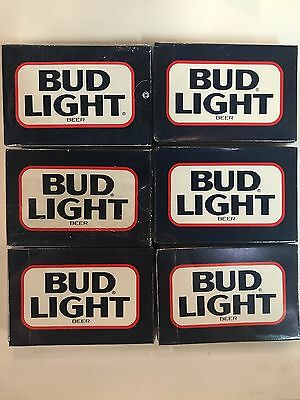 (6 deck) Vintage 1980's Bud Light Budweiser Beer Playing Cards in box