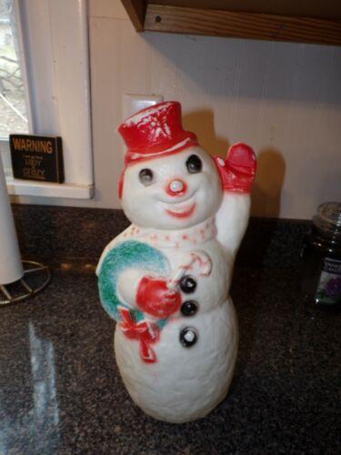VTG Plastic Snowman Figurine dapol blow mold