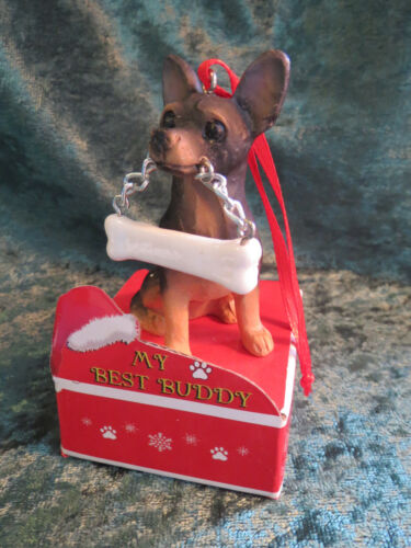 MY BEST BUDDY PERSONALIZABLE CHRISTMAS ORNAMENT CHIHUAHUA DOG PUPPY HALLMARK