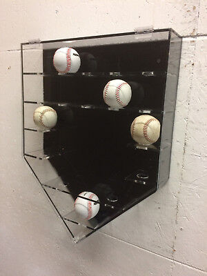 Home Plate Diamond 17 baseball holder with snap lit and solid -