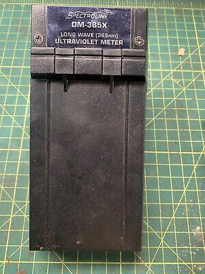 Spectroline Dm- 365x Long Wave Ultraviolet Meter Magnaflux