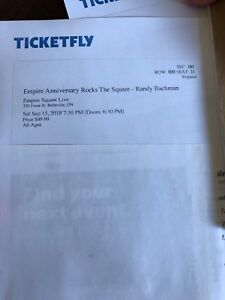 Kim Mitchell and Randy bachman tickets