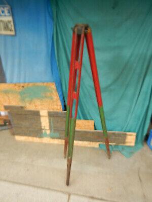 Vintage Wooden Leg Transit Level Stand W 3 12-8 Mount Possible Ke Surveying