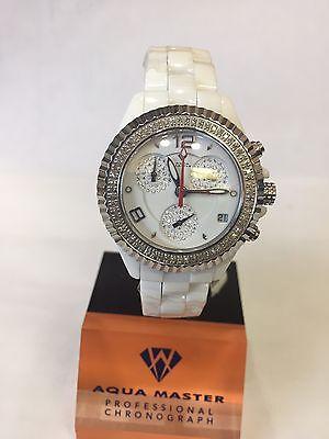 1 25T Techno By Jpm Ladies Diamond White Ceramic Watch Joe Rodeo Aqua Master