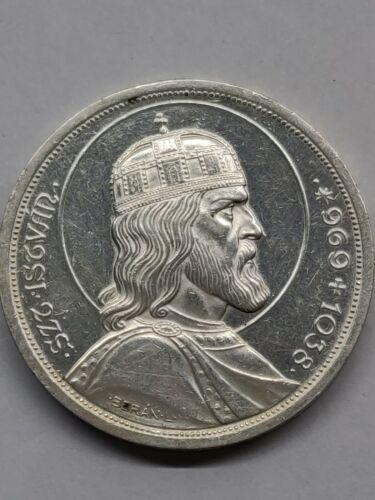 1938 5 PENGO COMMEMORATIVE SILVER COIN