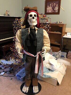 4' Gemmy Life Size Dancing Pirate Skeleton Super Freak Halloween Animatronic