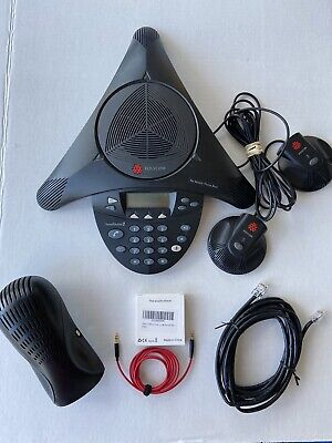 Polycom Soundstation2 Conference Phone With Cell Phone Cable Combo