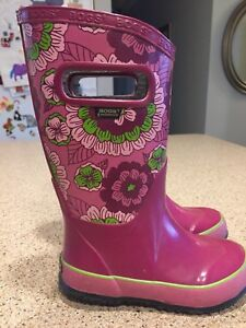 Girls Size 10 Bogs Rubber Boots