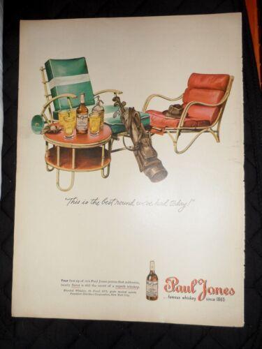 "1945 Paul Jones Whiskey Vintage Magazine Ad ""This is the best round we"