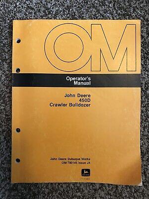 John Deere 450d Crawler Bulldozer Owner Operator Maintenance Manual Omt80145
