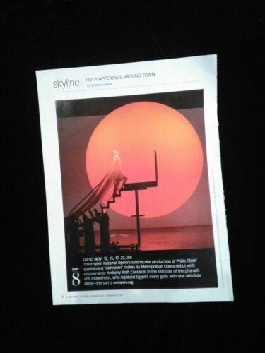 Philip Glass AKHNATEN A R Costanzo METROPOLITAN OPERA 2019 magazine advertisemnt