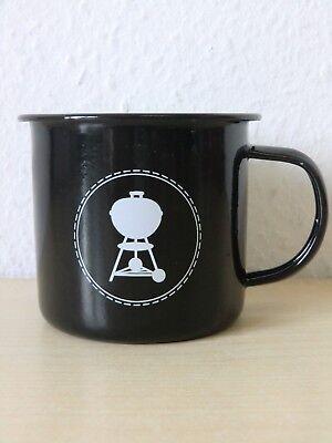 Weber Tasse Kaffeetasse Geschirr Grill BBQ emailliert Kugelgrill 2017202316