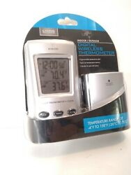 Outdoor Indoor Thermometer Digital Wireless Living Solution Small Alarm Clock ++