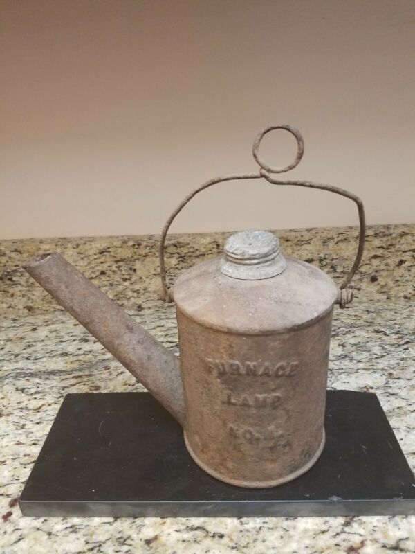 Rare Antique Cast Iron Taylor & Boggis Furnace No 1 Oil Wick Miner