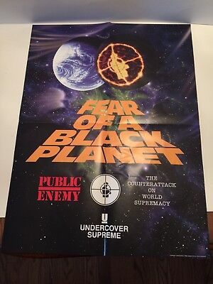 SUPREME 2018 UNDERCOVER PUBLIC ENEMY POSTER FEAR OF A BLACK PLANET In Hand!!!